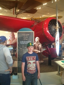 Sean Lee learning about the science of aviation.