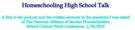 Homeschooling High School Talk