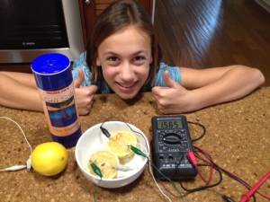 Making a lemon battery