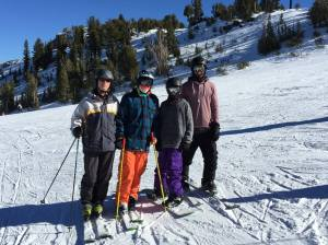Mammoth Mountain, California Skiing and rowing this month! Sean in the orange pants skiing with family and friends!