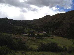 looking back at the Incan baths