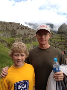 Learning about other cultures in Machu Picchu, Peru