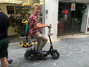 Sean chose a scooter.