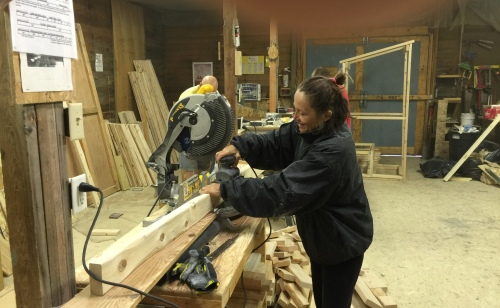 I am helping to build outhouses and bunk beds at Re-Member on the Pine Ridge reservation.